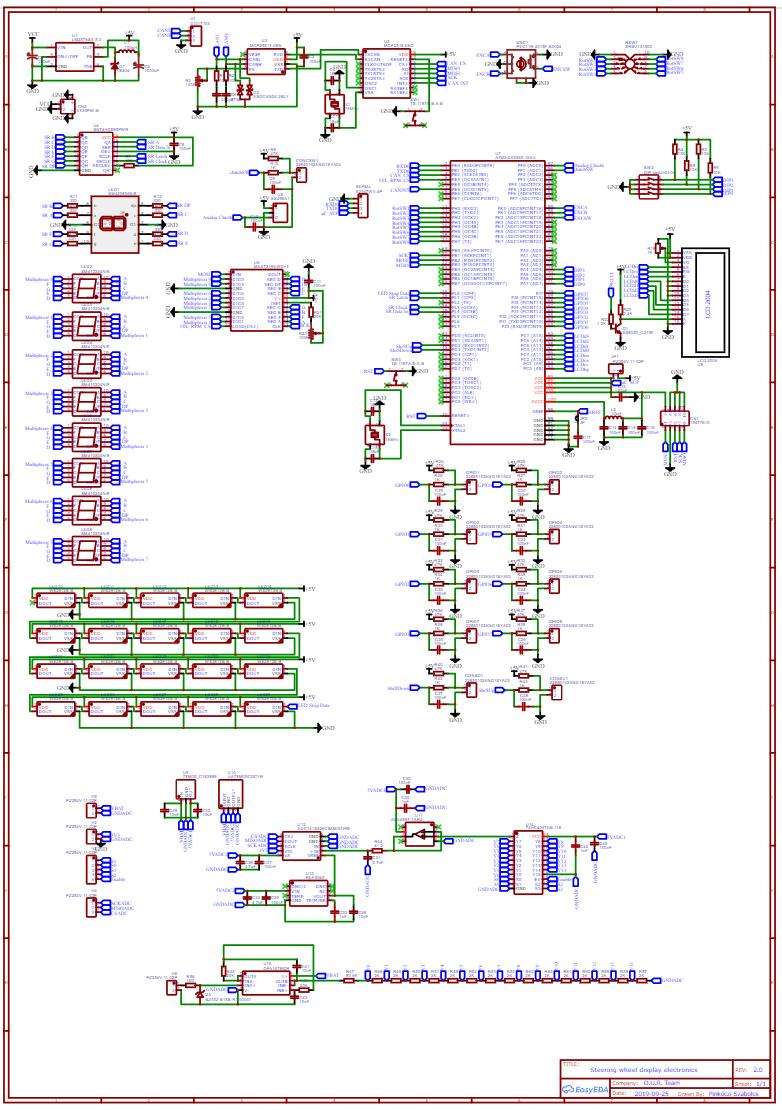 A kormány elektronika kapcsolásának megtervezése